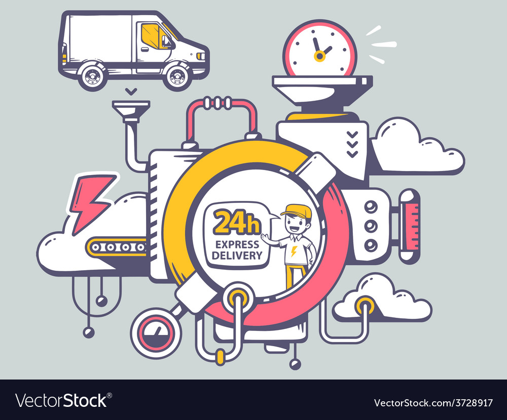 Mechanism 24 hours express delivery and r vector