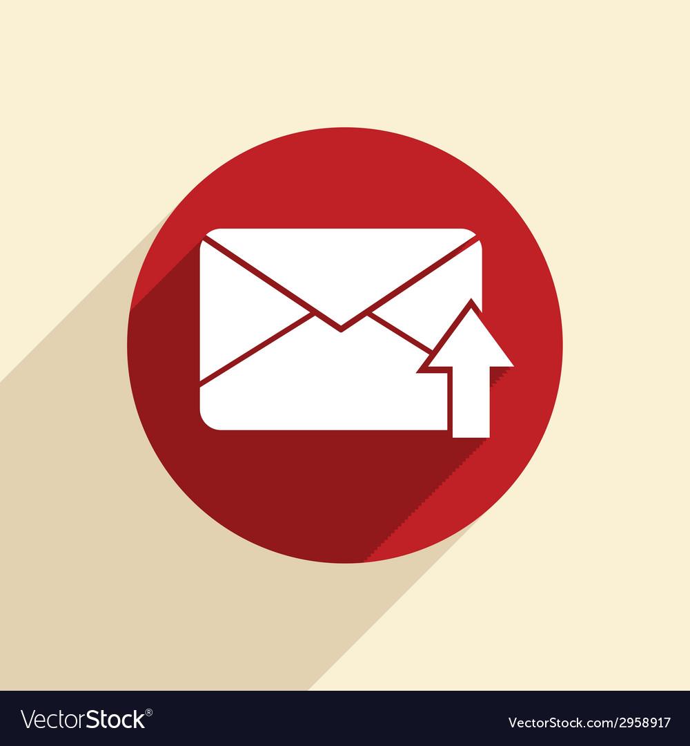 Postal envelope vector