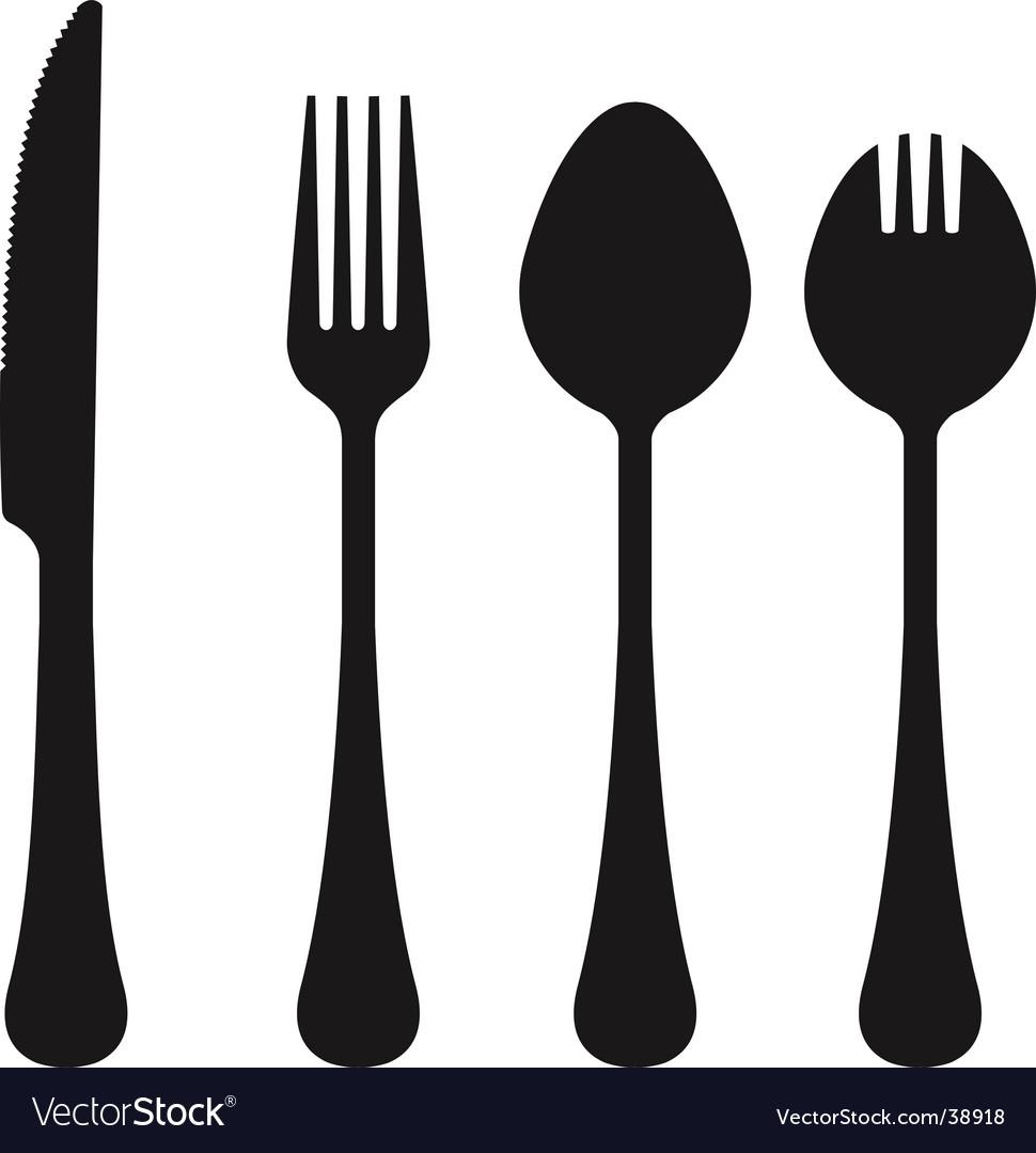 Cutlery collection vector