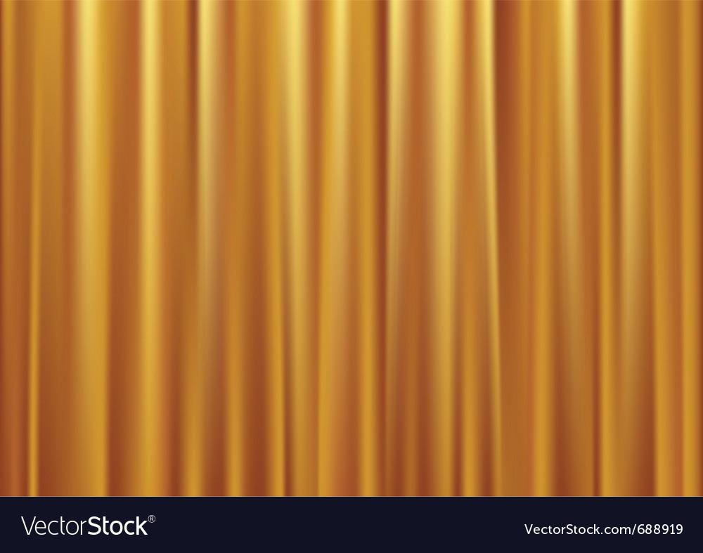 Gold curtain vector
