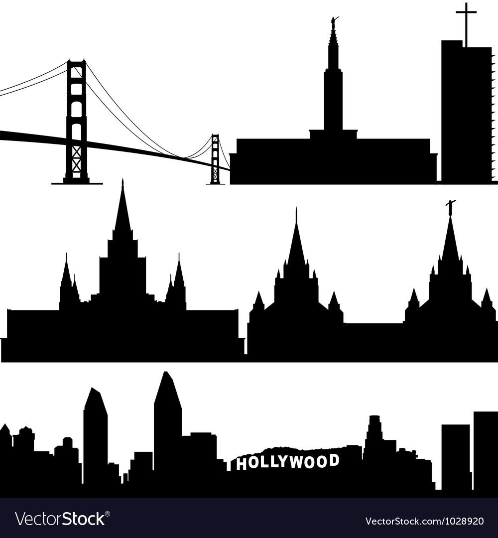Architecture of california vector