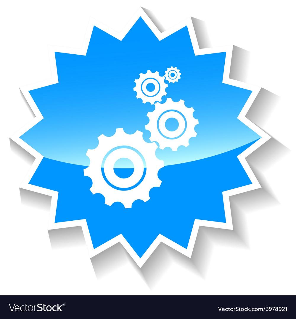 Mechanism blue icon vector