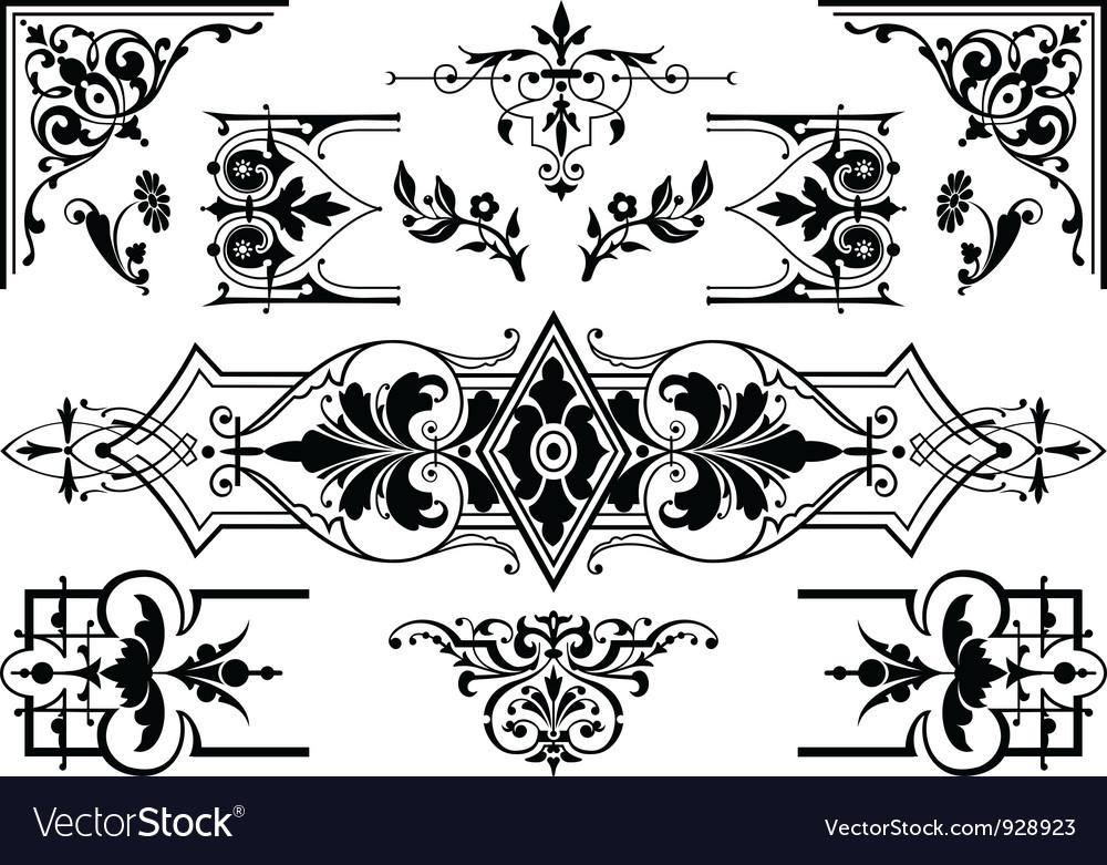 Antique design elements vector
