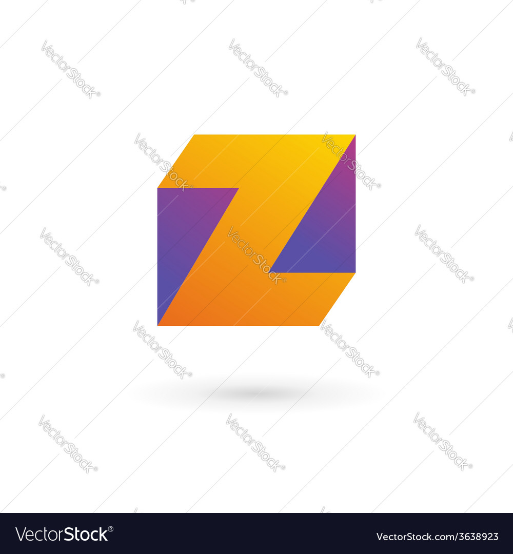 Letter z cube logo icon design template elements vector