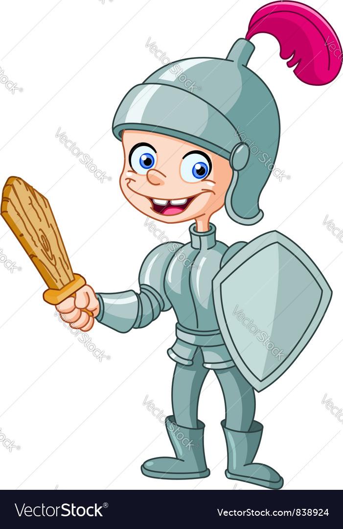 Knight kid vector
