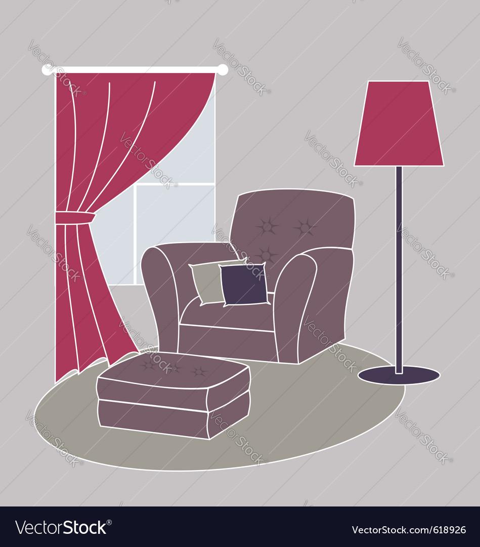 Living room corner vector