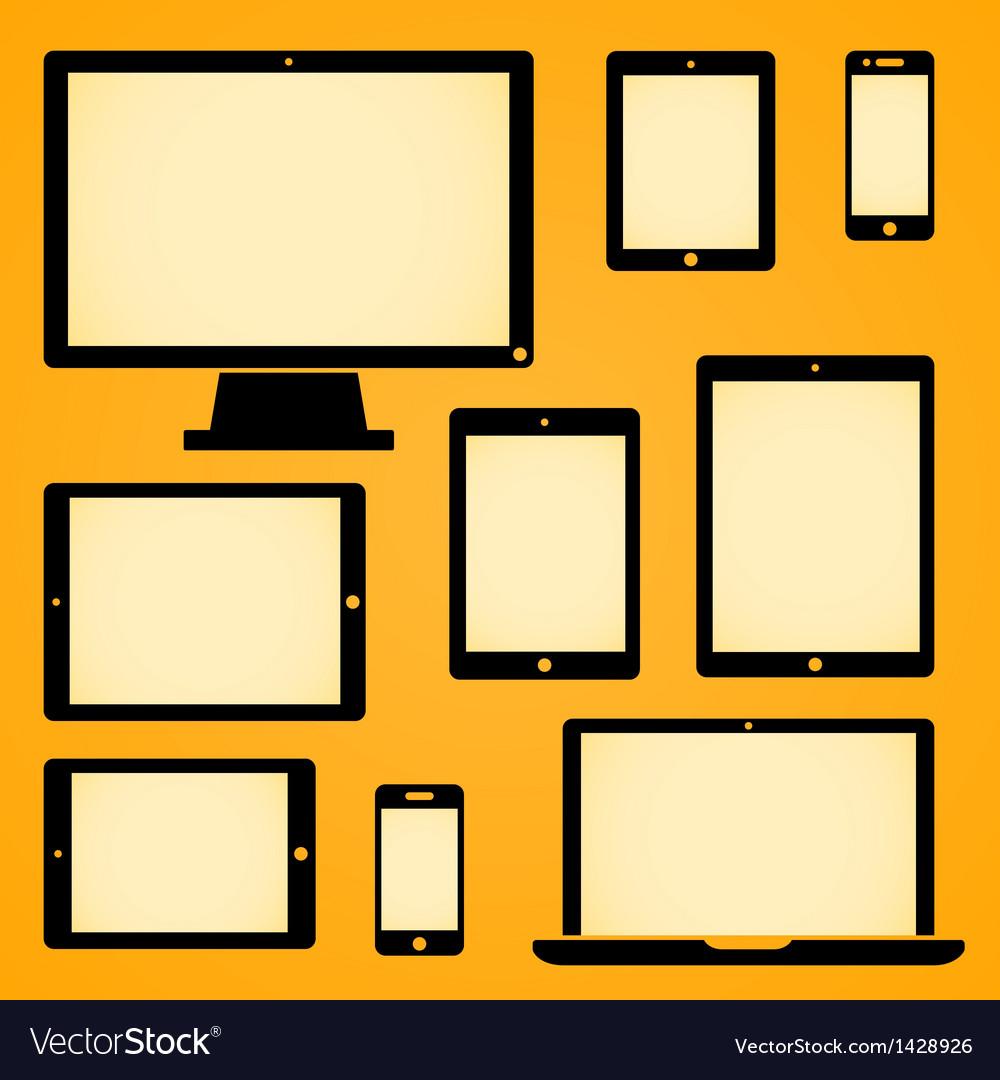 Mobile device symbols vector