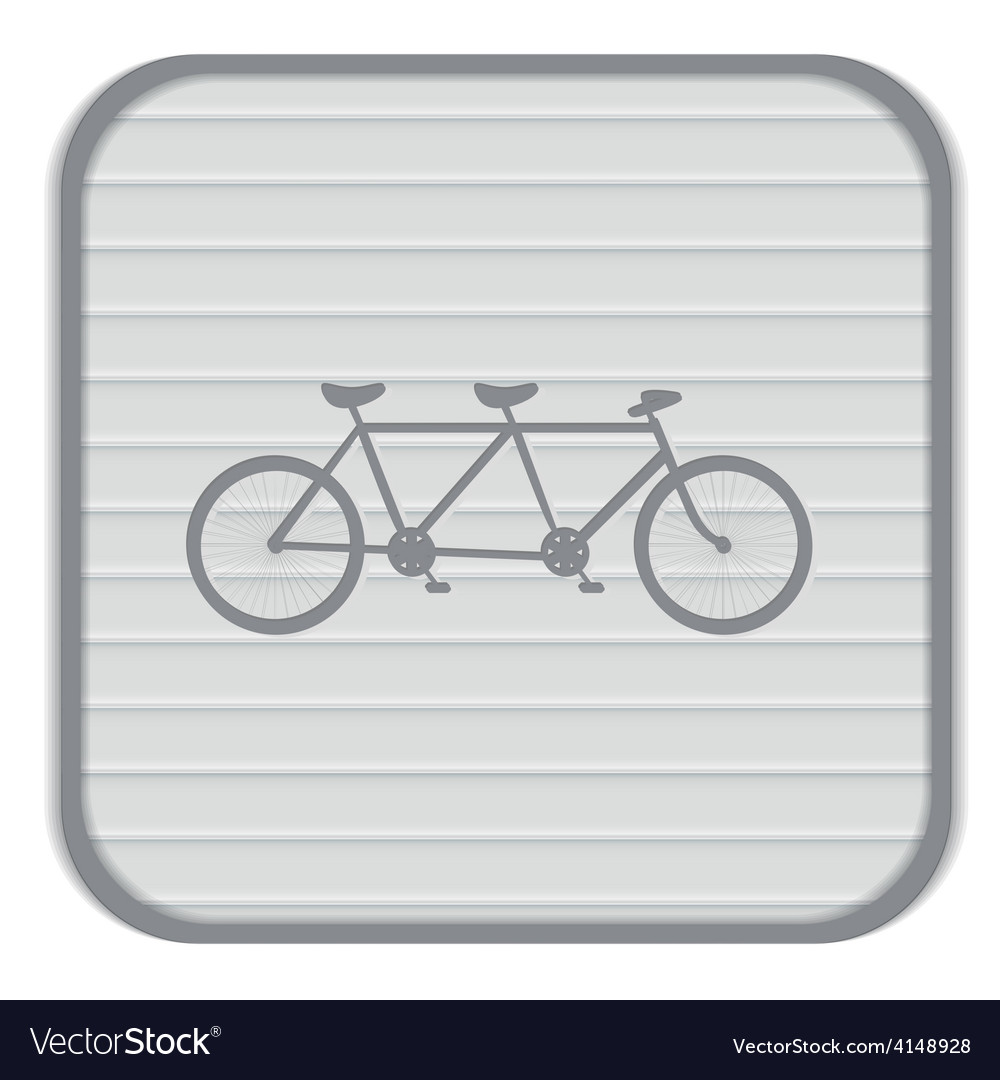 Retro bicycle icon vector
