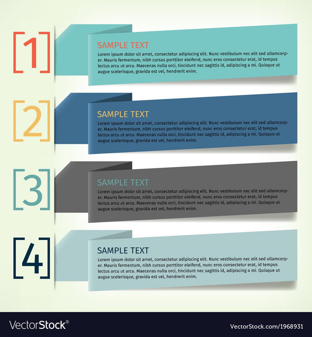 Infographics design template banner vector