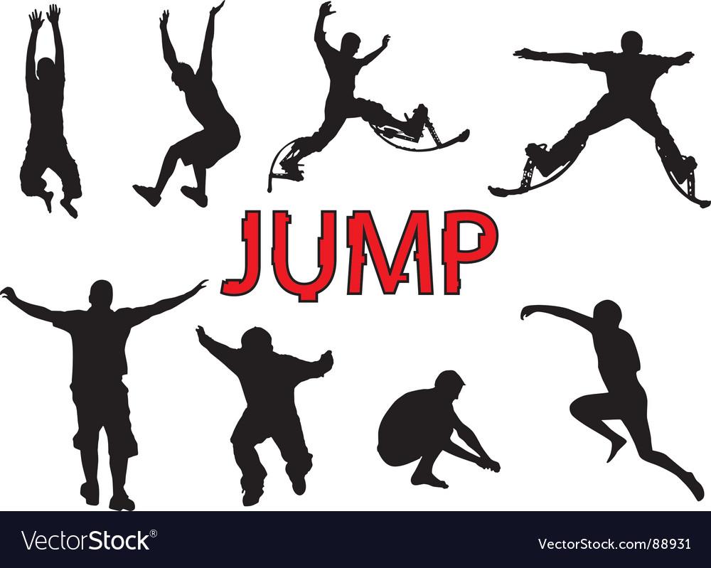 People jump vector