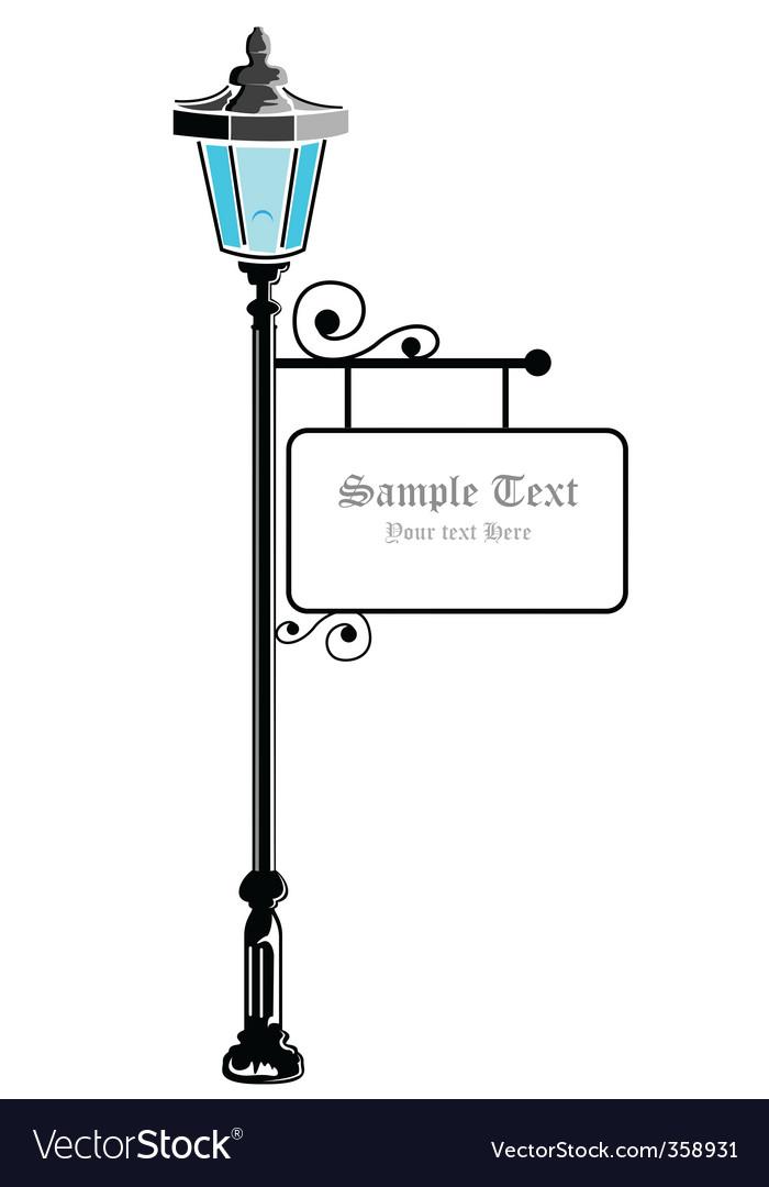 Pillar lamp vector