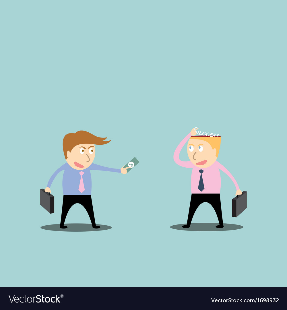 Businessman trading success vector