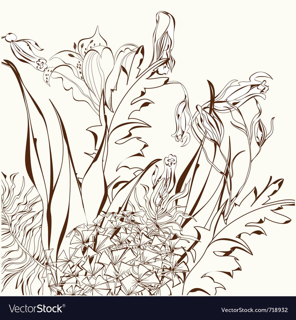 Decorative floral background vector