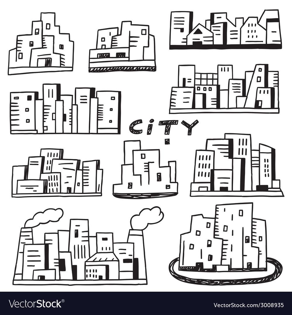 City doodles vector