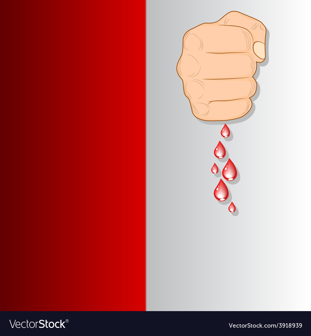 Fist and blood vector