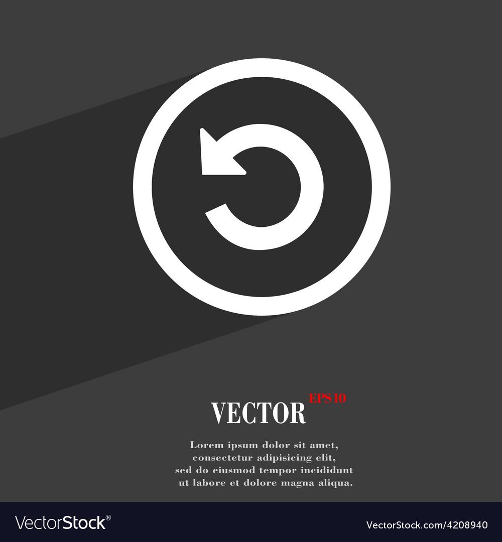 Upgrade arrow update icon symbol flat modern web vector