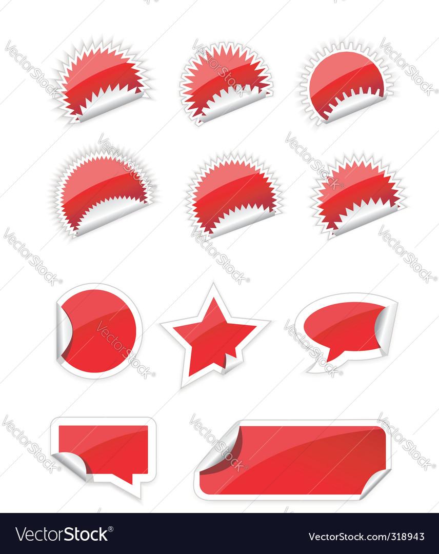Set of trendy sticker vector