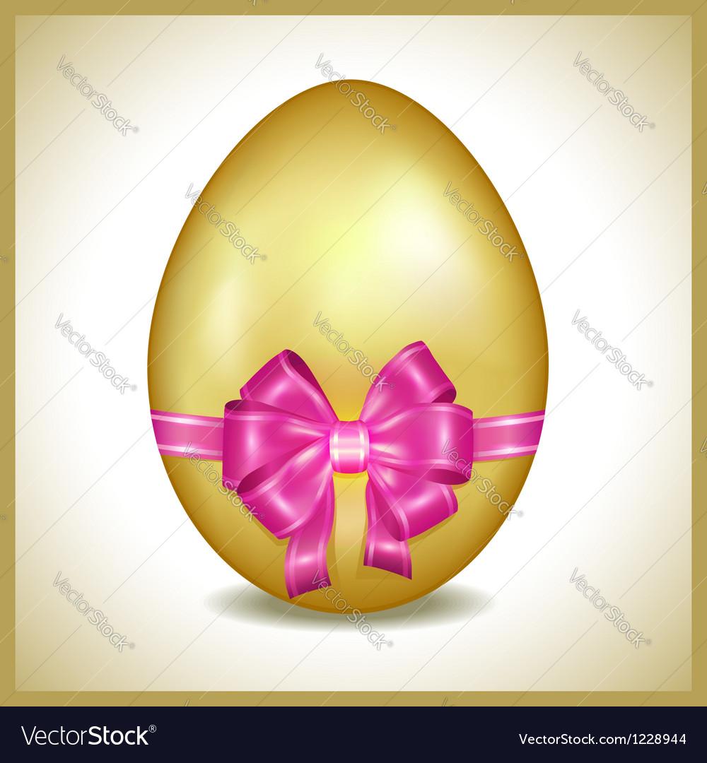 Golden easter egg isolated vector