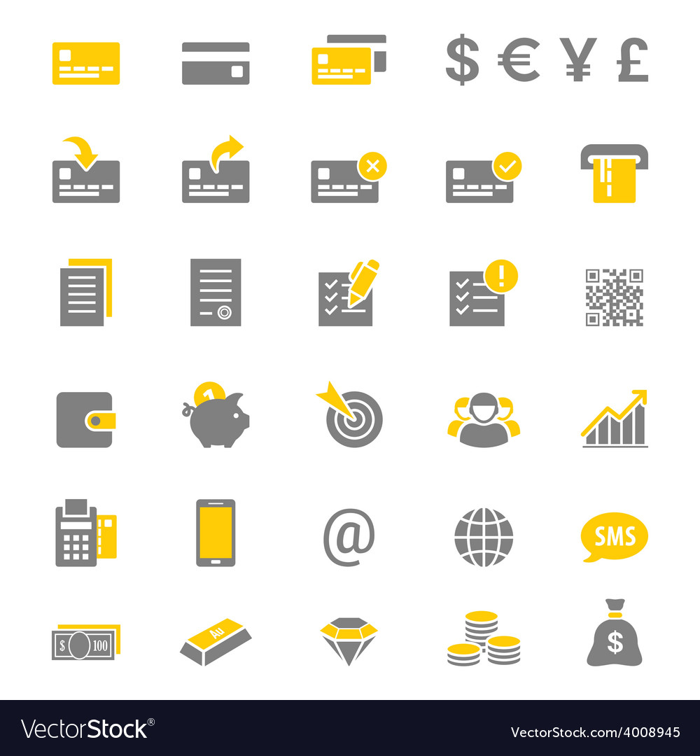 Finance and banking silhouette icon set vector
