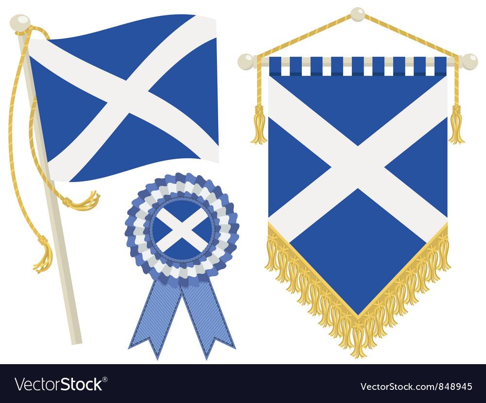 Scotland flags vector
