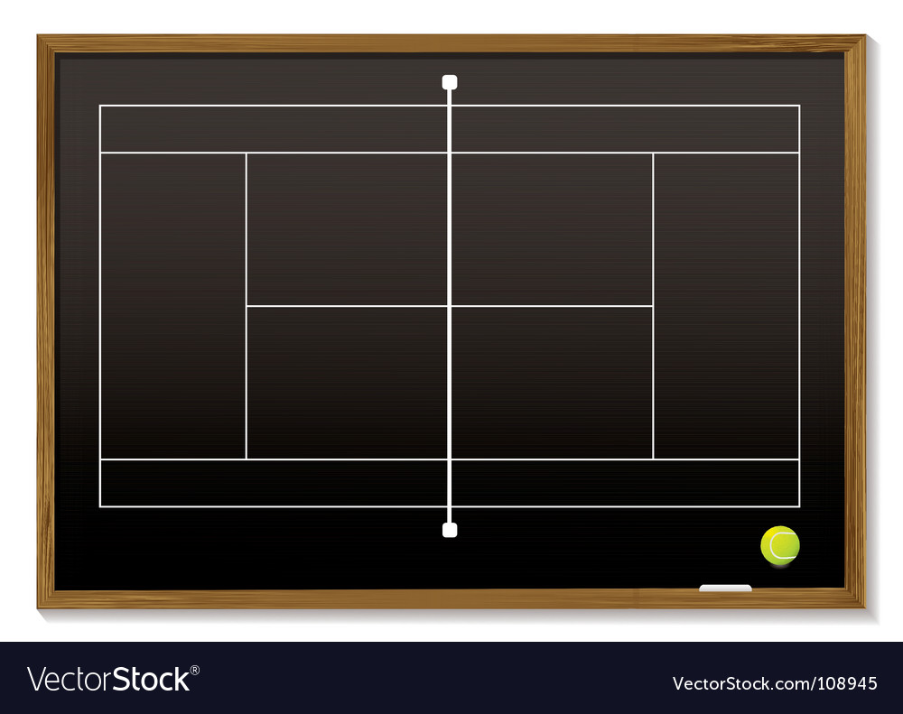 Tennis court blackboard vector