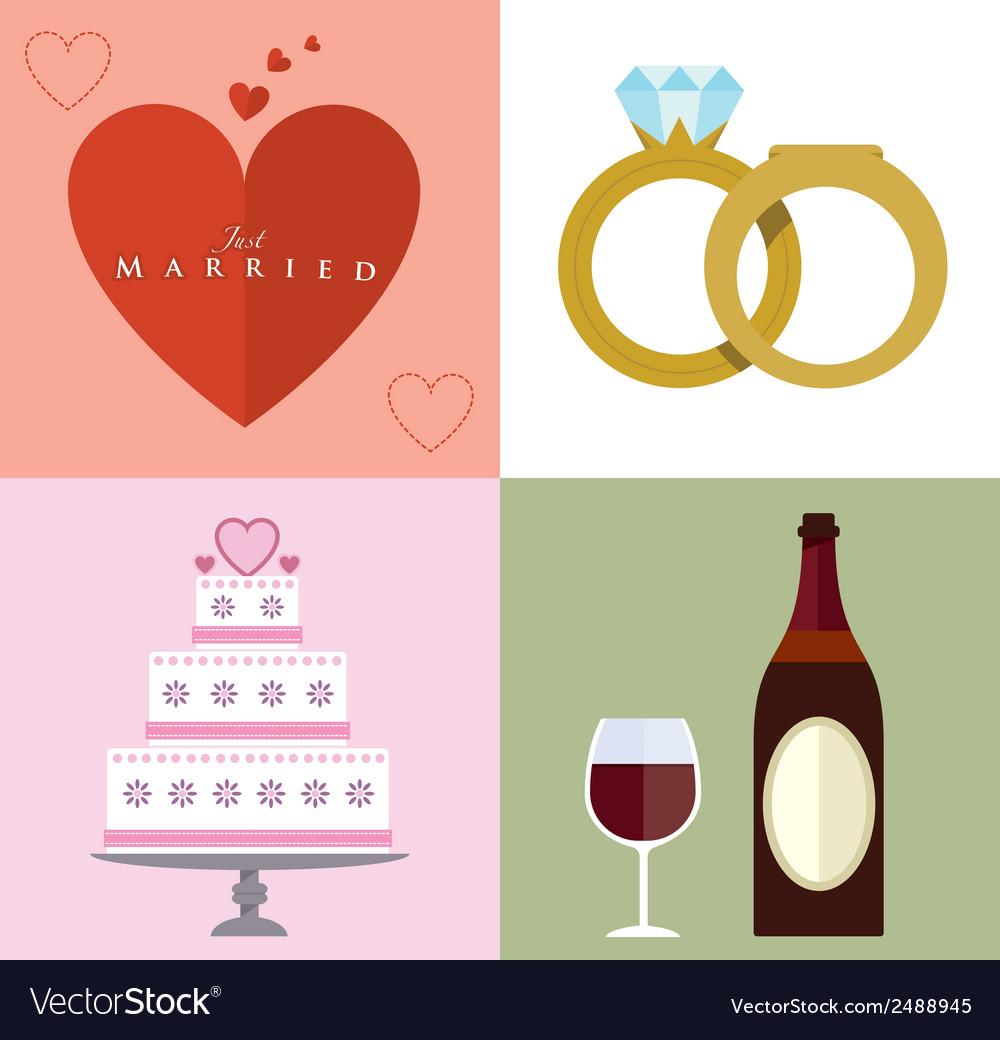 Wedding accessories set ii vector