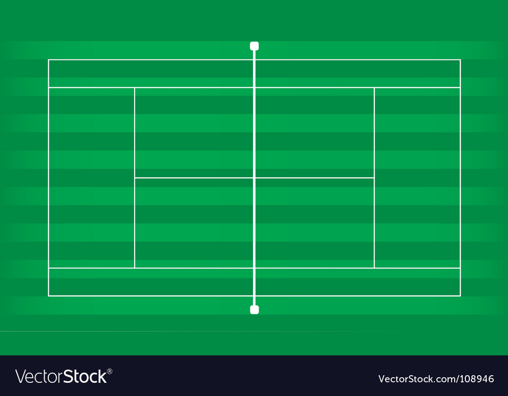 Tennis court grass vector