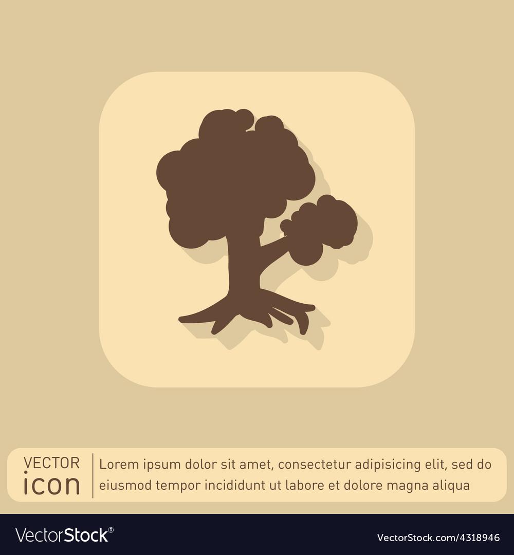 Tree symbol icon nature sign vector