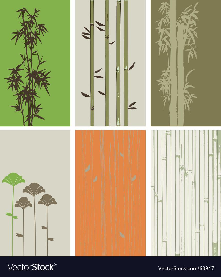 Bamboo elements vector
