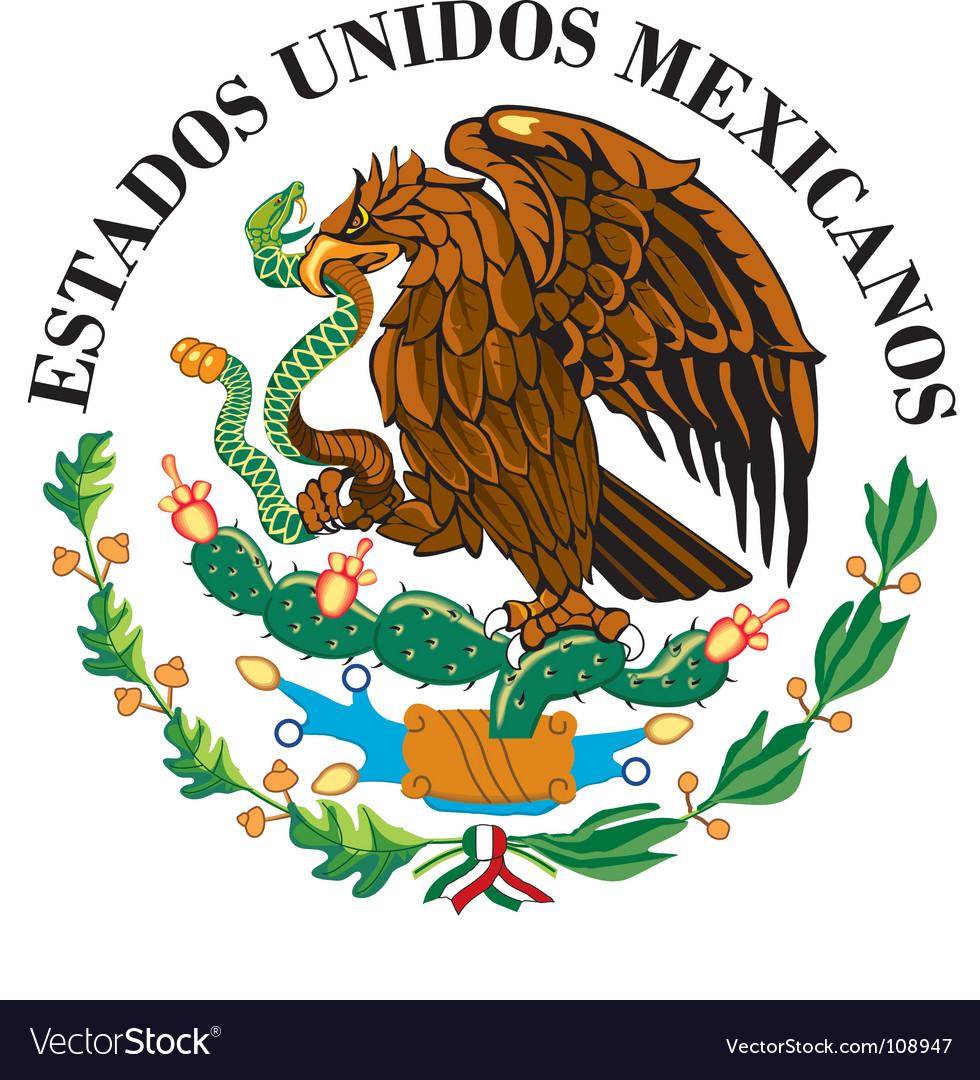Mexican national flag symbol vector