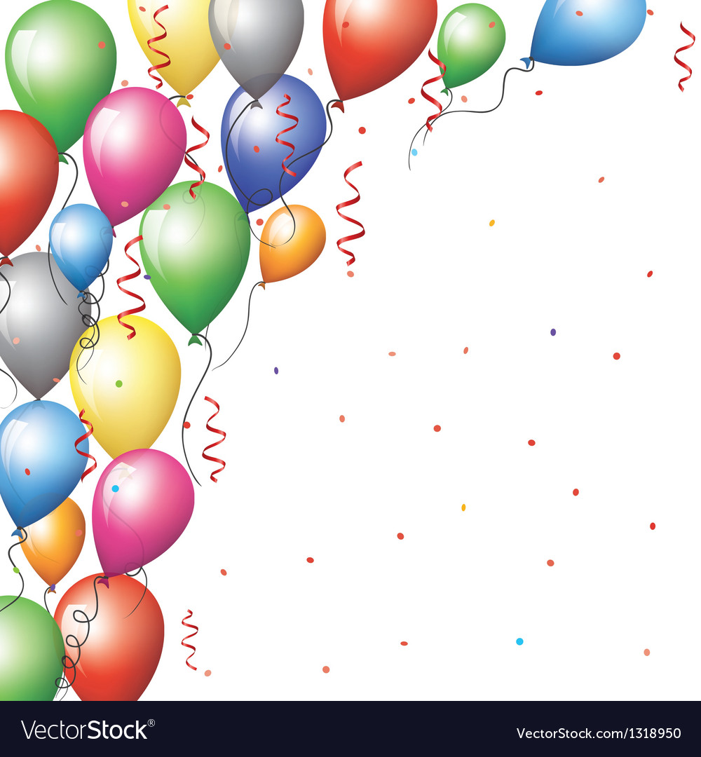 Balloon border vector