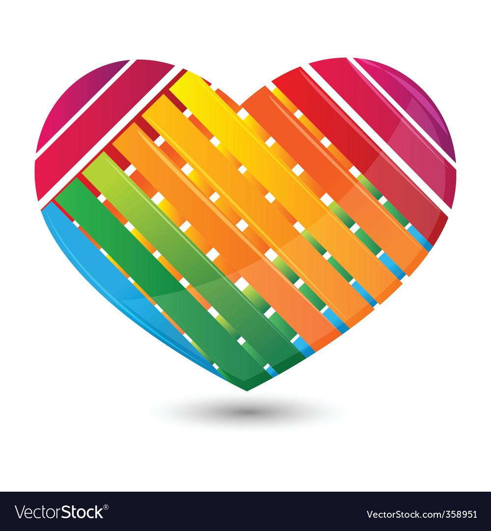 Stripped heart vector