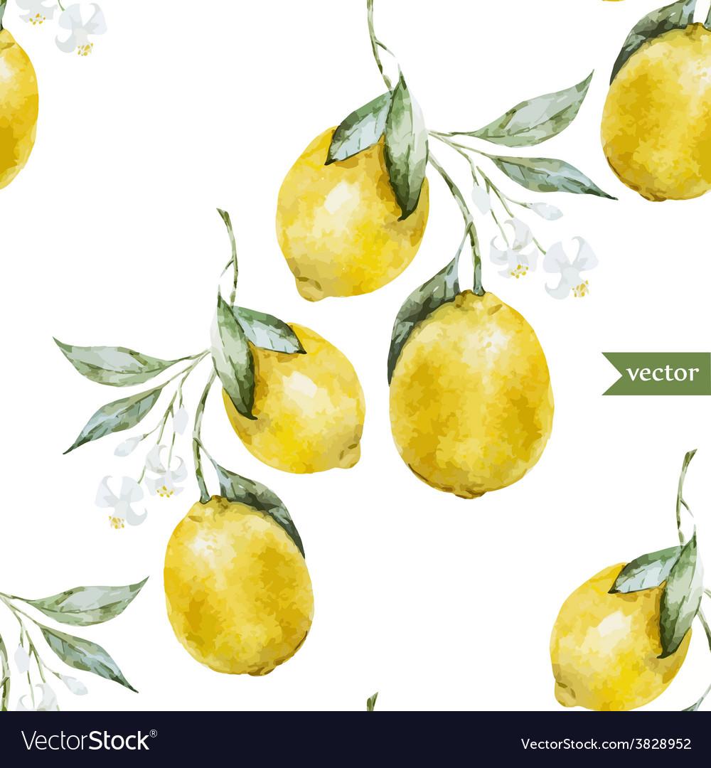 Lemon pattern3 vector