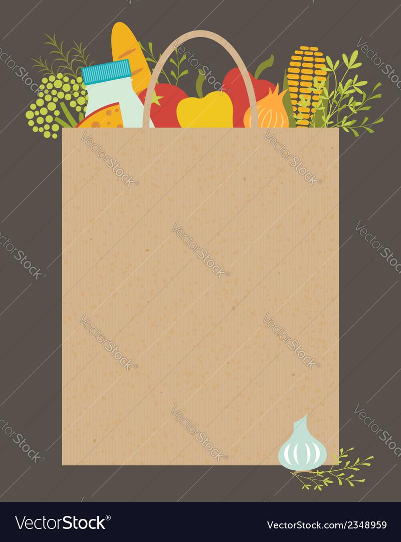 Grocery bag vector