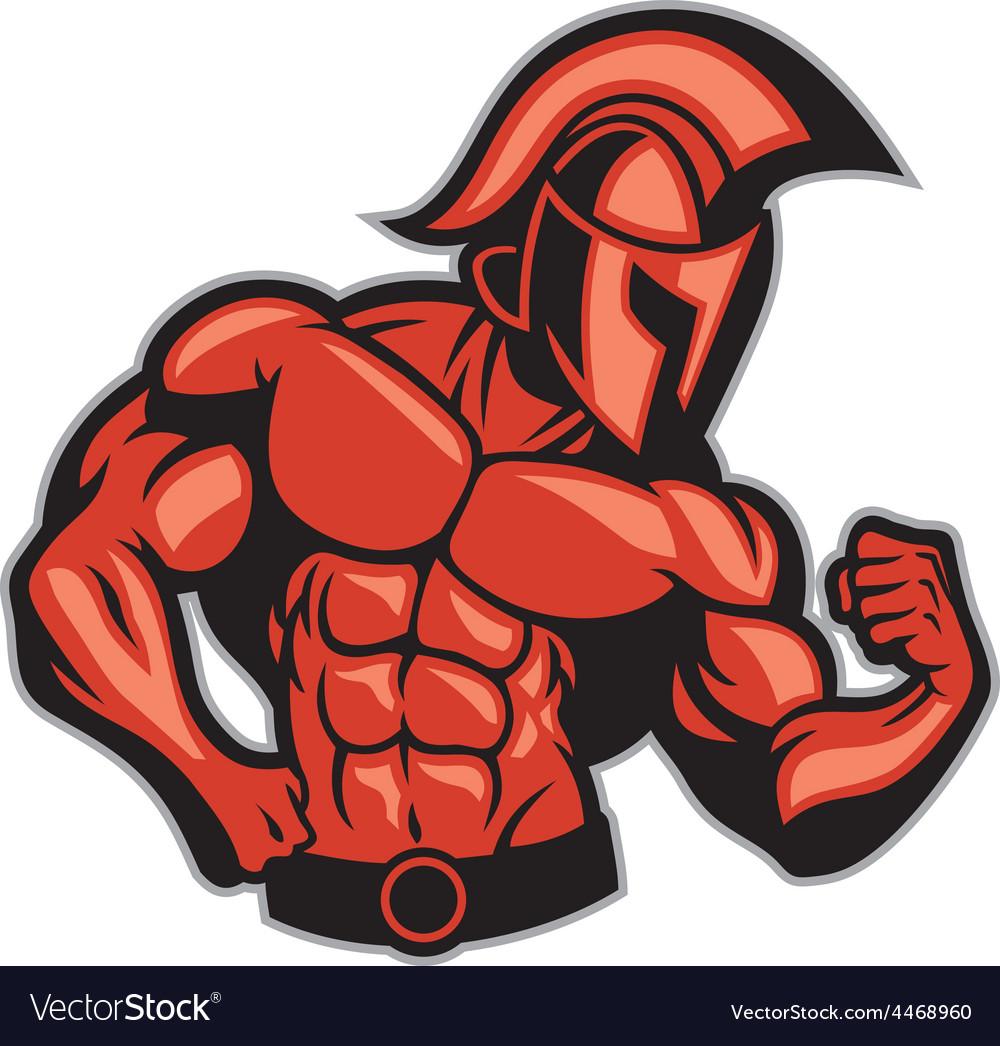Spartan muscle posing vector
