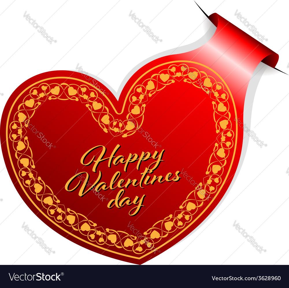 Valentines day sticker vector