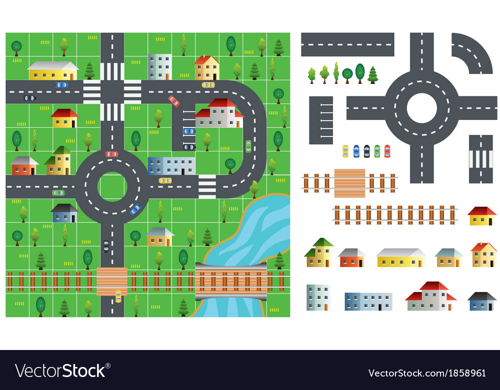 City map toolkit vector