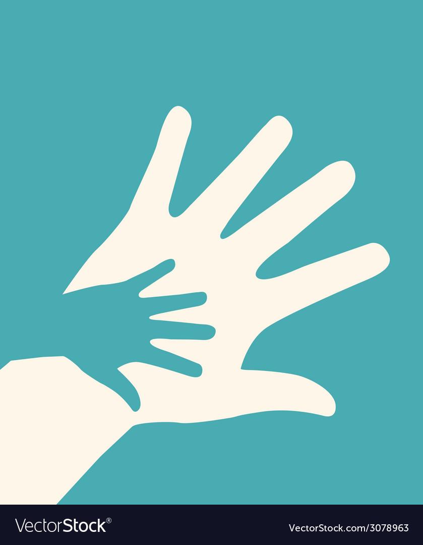 Hands helping design vector