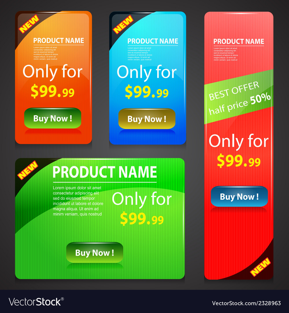 Sale banners set vector