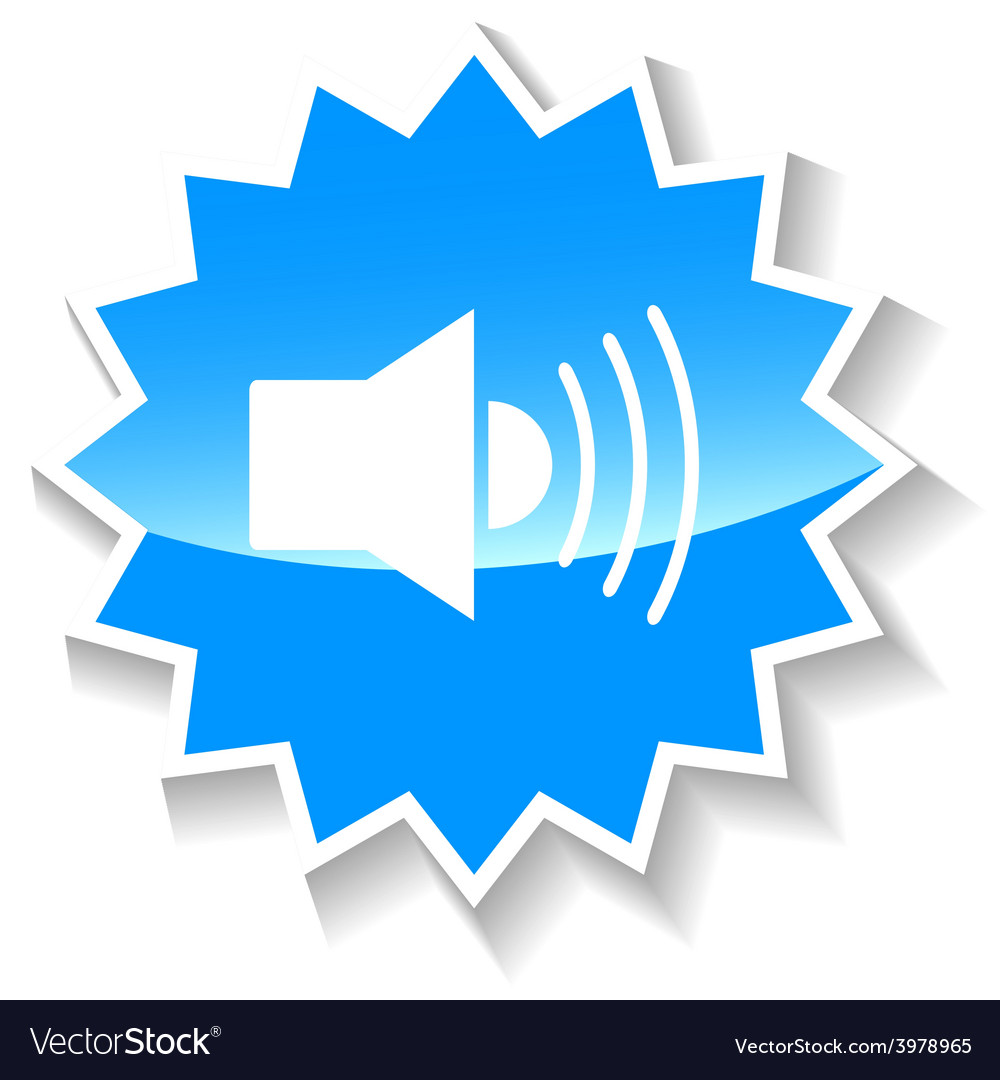 Sound blue icon vector
