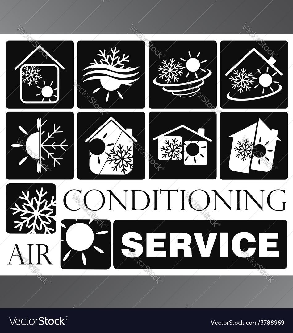 Air condicioning set vector