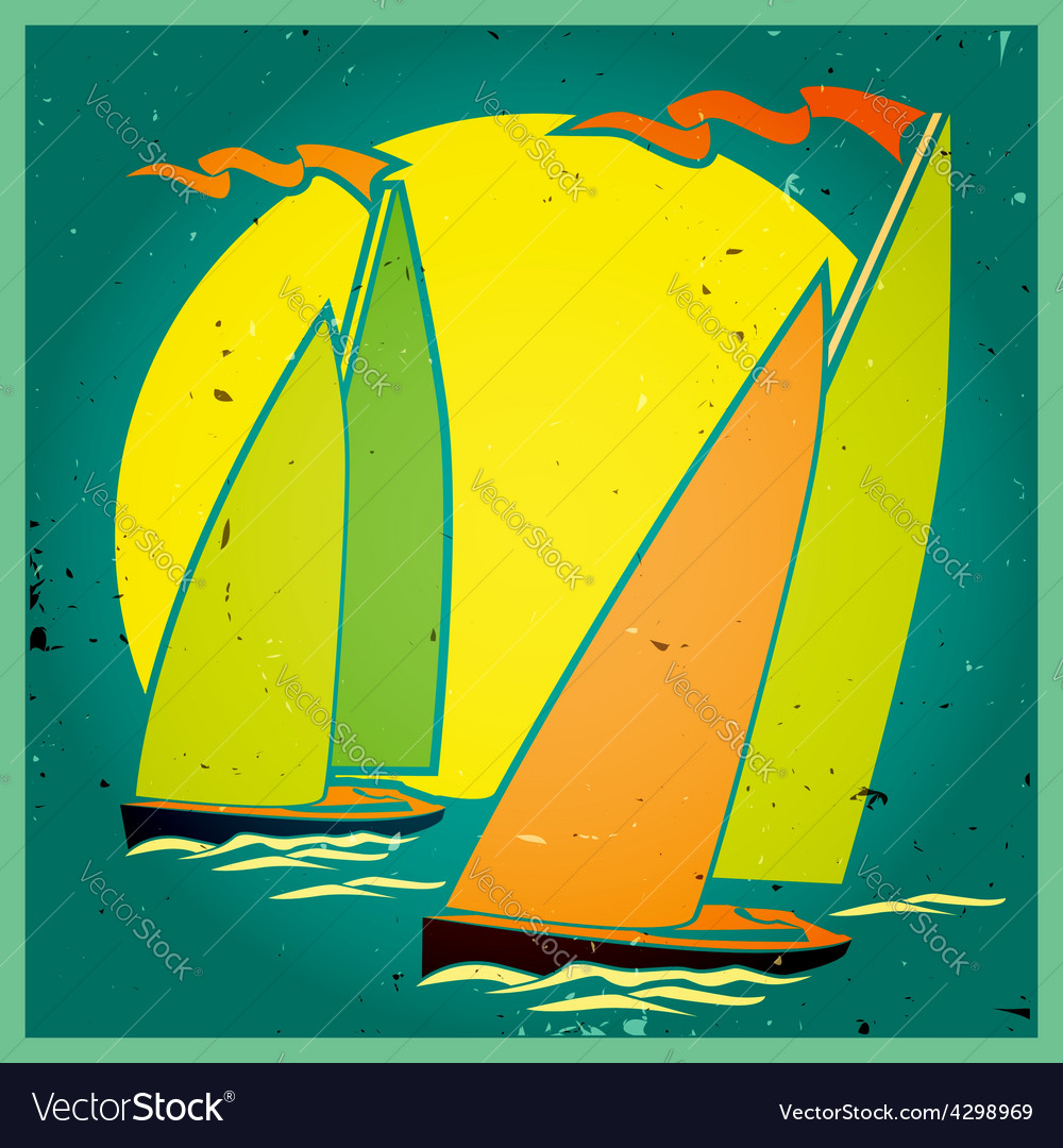 Yachting vector