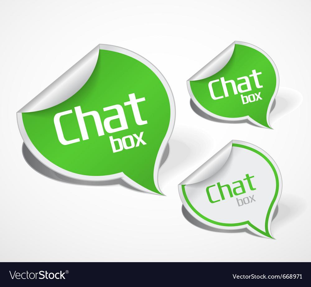 Paper bubble label icon vector