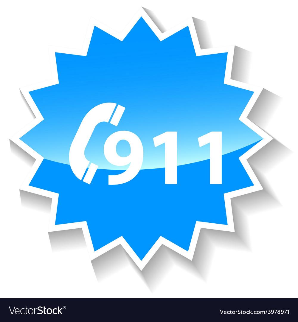 Rescue blue icon vector