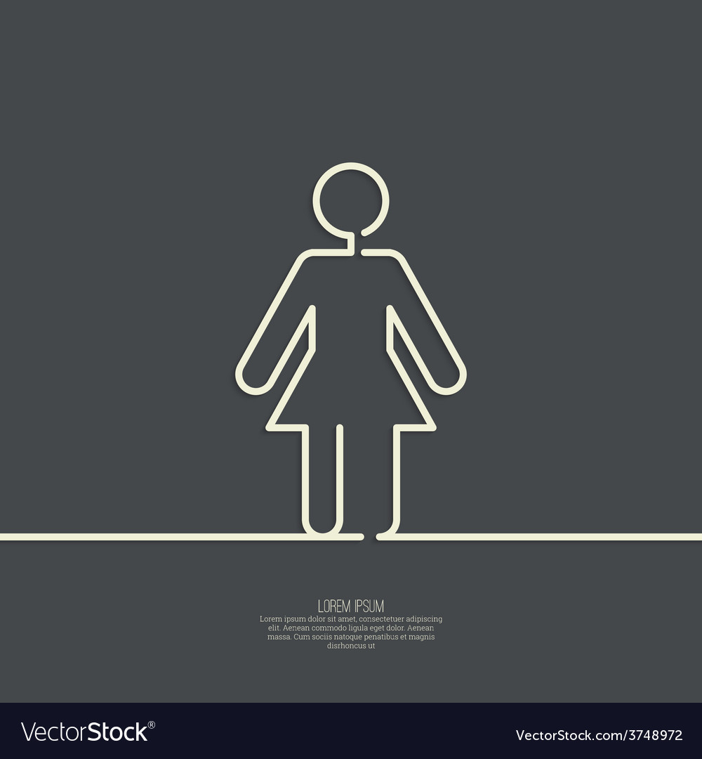 Human female sign icon vector