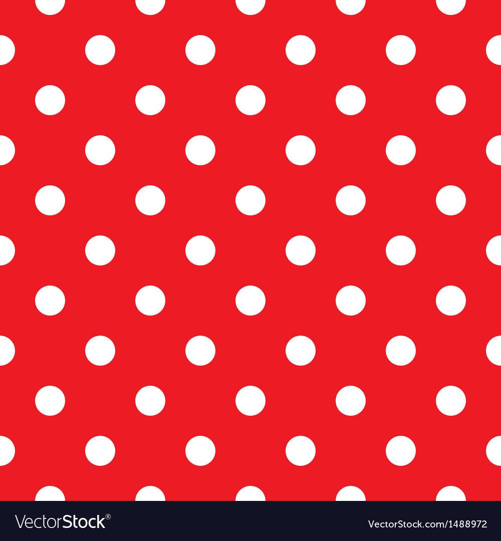 Red polka dot seamless pattern design vector