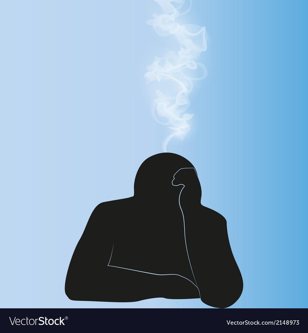 Silhouette of person background vector