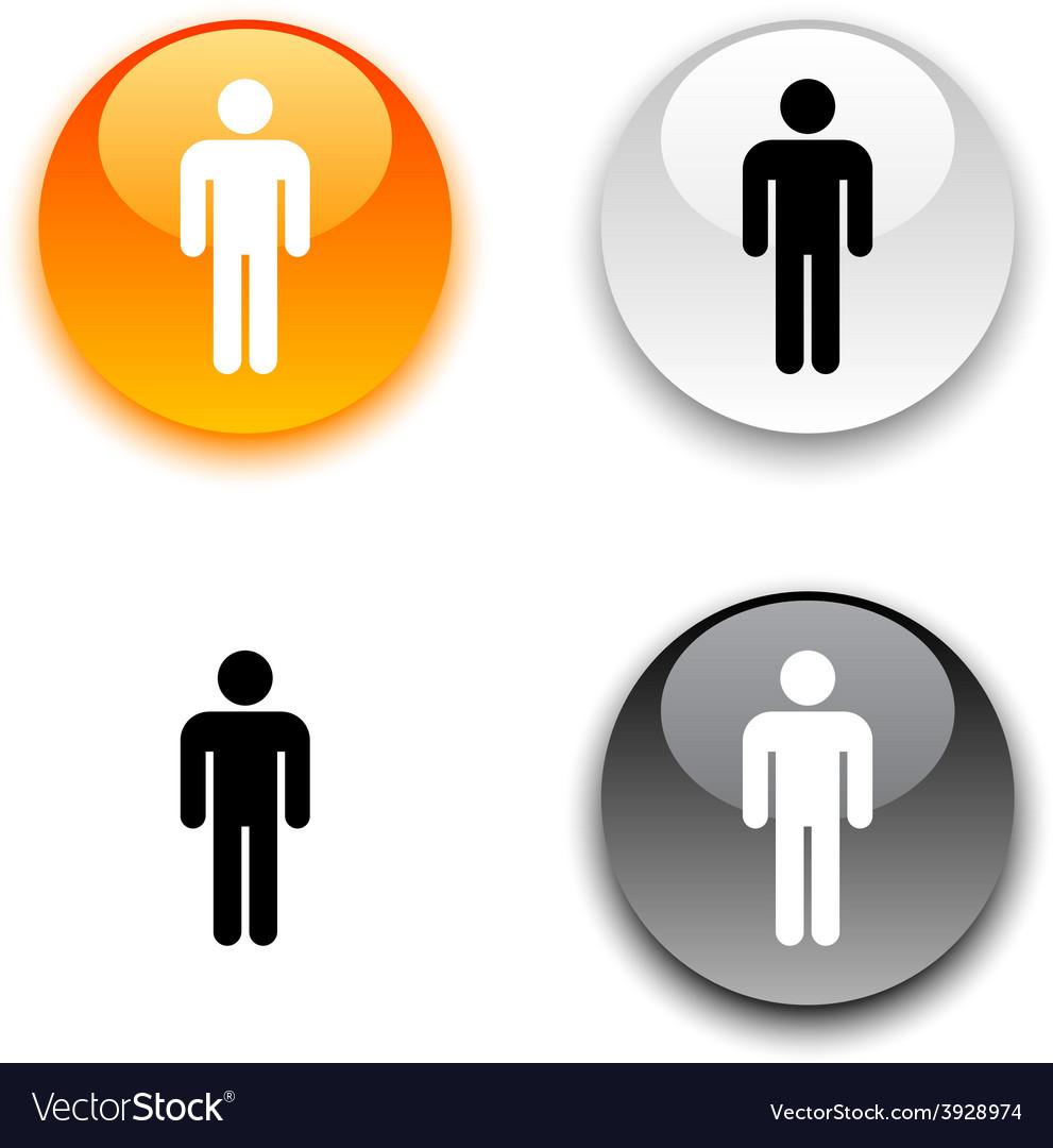 Male button vector