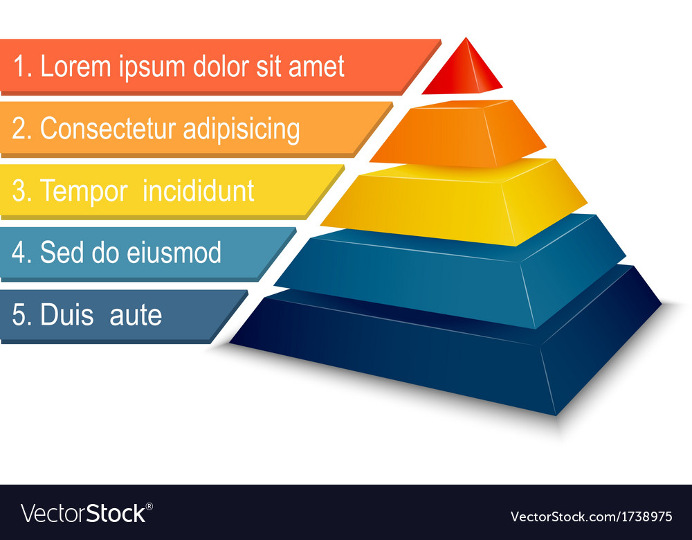 Pyramid chart for infographics vector
