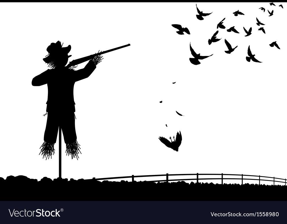 Shotgun scarecrow vector